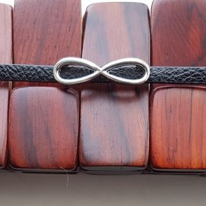 Infinity leather bracelet with magnetic clasp
